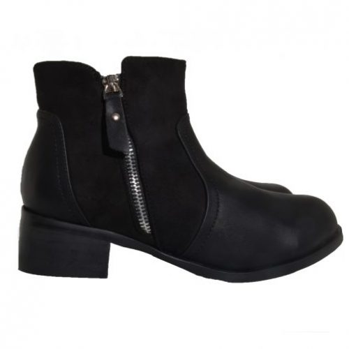 suede detail boots