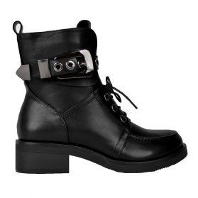 levi belted boots black