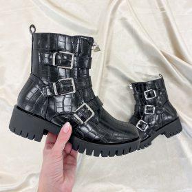 JELYA BOOTS CROCO BLACK
